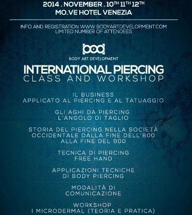 International Piercing Class And Workshop